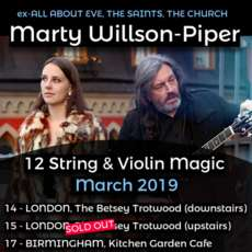 Marty Willson Piper At Kitchen Garden Cafe On 17 Mar 2019